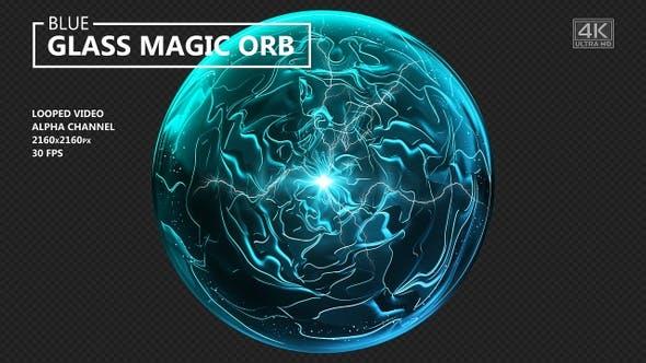 Blue Glass Magic Orb