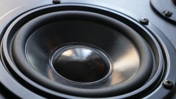 Thumbnail for Modern high fidelity  speaker membrane vibrations 4K 2160p 30fps UltraHD footage - Acoustic diaphrag