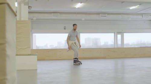Inline Skater on Training