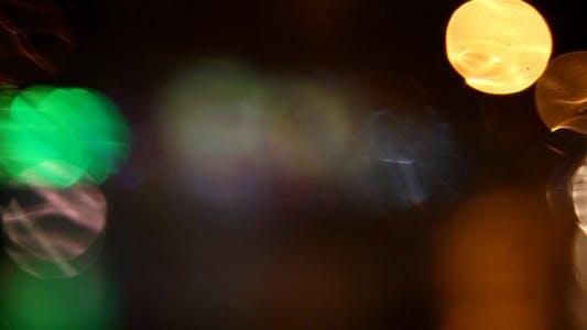 Thumbnail for Rainy Night Traffic Bokeh 1 - full HD