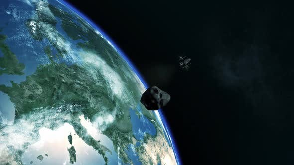 Thumbnail for Asteroid near Earth miss
