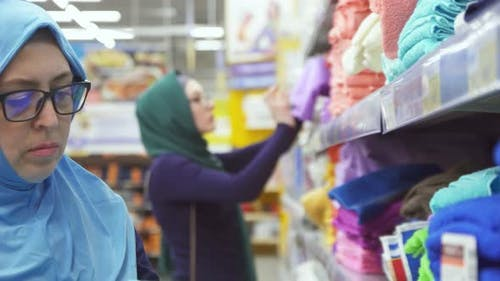 Muslim Woman 40 Years Shoppingchoose Fabrics
