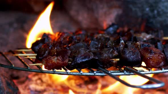Thumbnail for Lamb Liver Meat On Barbecue 2