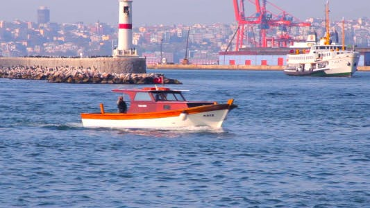 Thumbnail for Small Motor Boat On Sea