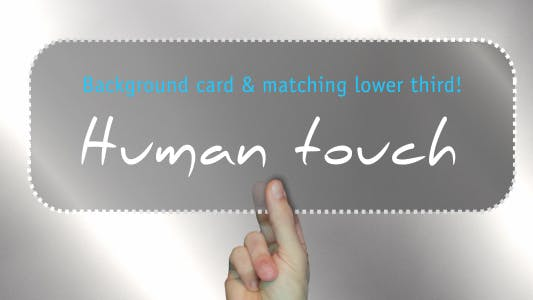 Thumbnail for Human Touch - Background & Lower 3rd Combo
