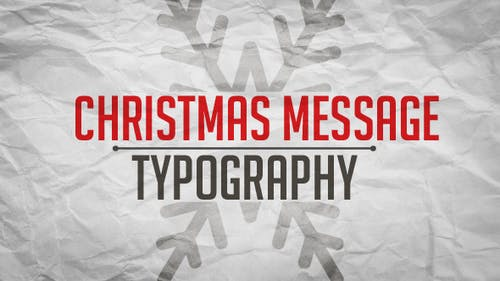 Christmas Message - Apple Motion Template