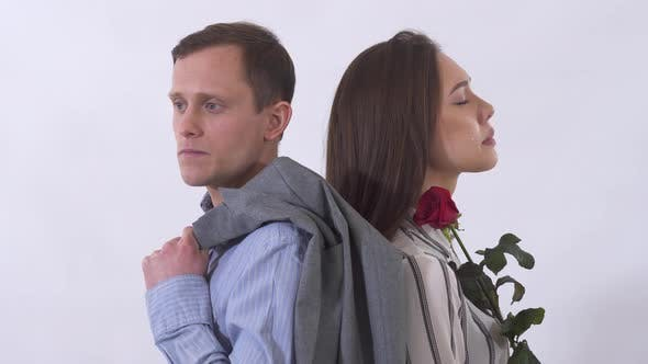 Cover Image for Portrait of Man and Woman Sad