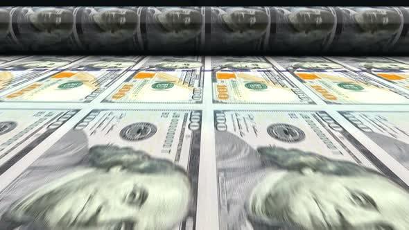 Thumbnail for 100 United States Dollars Banknotes Printing Process