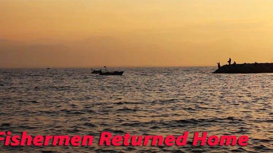 Les pêcheurs sont rentrés chez eux