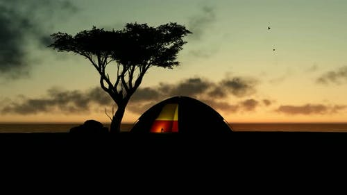 Tent Camp at Sunset