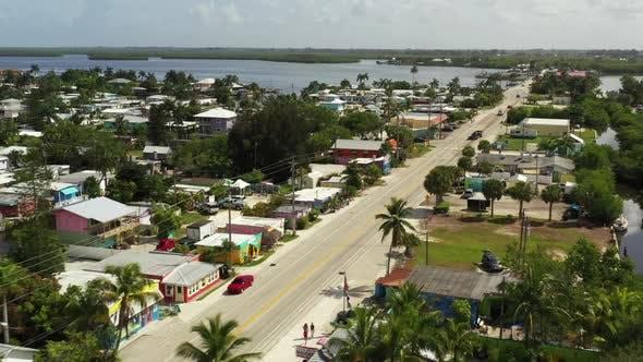 Aerial Scenic Tour Of Matlacha Florida 4k