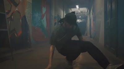 Strong Guy Break Dancing