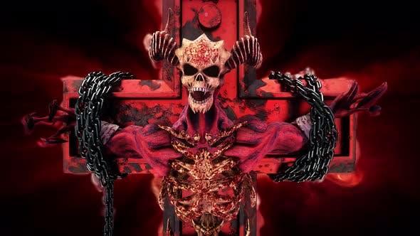 The Hell Creature On Cross VJ Loop
