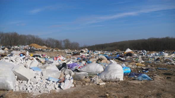 Thumbnail for Many Rubbish Lies in Open and Freely Available Places at Nature. Trash Is Dumped on the Ground at