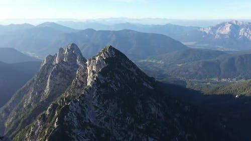 Above mountains ridge in julian alps,Mangart,Triglav National Park