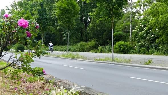 Thumbnail for City Life - Young Woman - Bike Riding