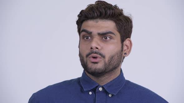 Thumbnail for Young Bearded Indian Businessman Explaining Something