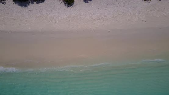 Wide above abstract view of a summer white paradise sand beach and blue ocean background in hi res 4