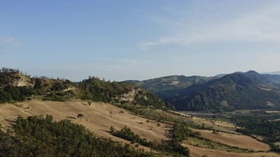 Italian countryside landscape in Calabria