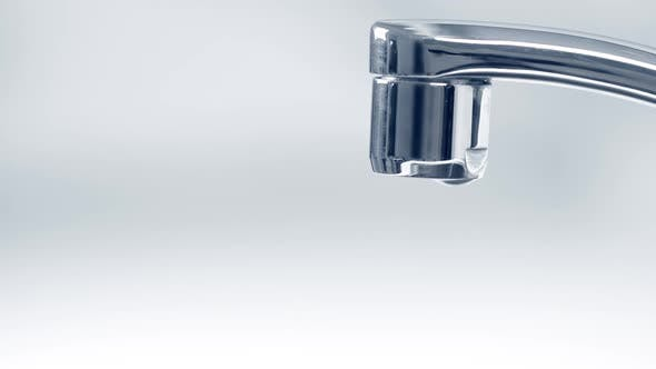 Water Running From Faucet Tap