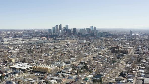 Thumbnail for Birds Eye View Of Denver Colorado USA Downtown Urban City Center Skyline