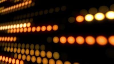Wall of Moving Orange Round LED