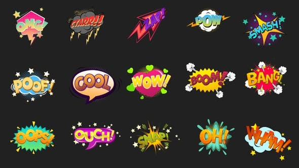 Thumbnail for Comic Bubbles Pack 5