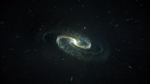 Realistic Galaxy Rotate Loop Background