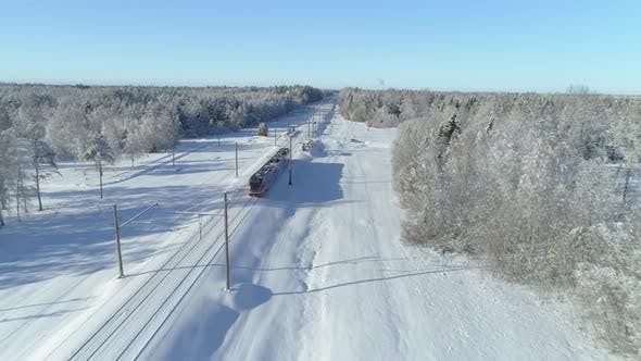 Thumbnail for Train Stopping at Station Aerial