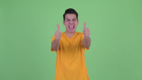 Thumbnail for Happy Young Multi Ethnic Man Giving Thumbs Up and Looking Excited