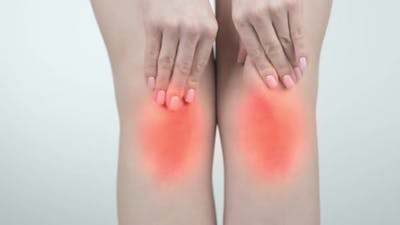Close Up Showing a Knee Pain