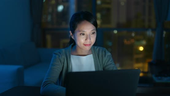 Thumbnail for Woman use of laptop computer