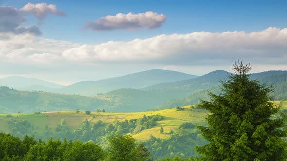 Thumbnail for Clouds over Carpathian Mountains and Valleys