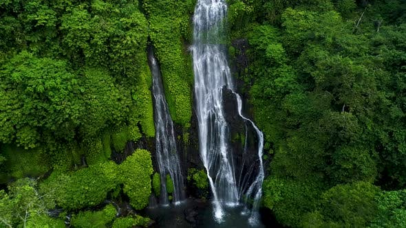 Thumbnail for Powerful Tropical Waterfall in Green Rainforest