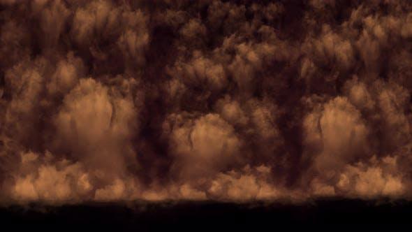 Smoke Dust Desert Falling Loop