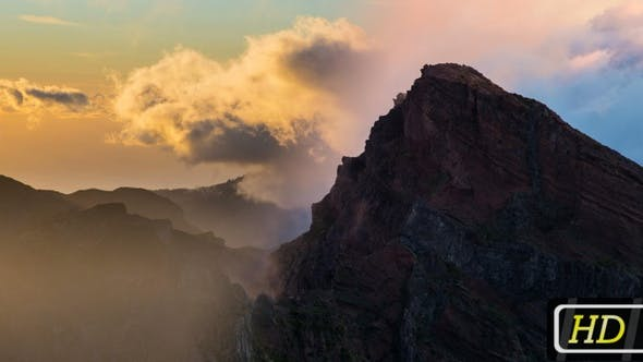 Thumbnail for 2-pack Set of Sunset View in Mountains, Madeira