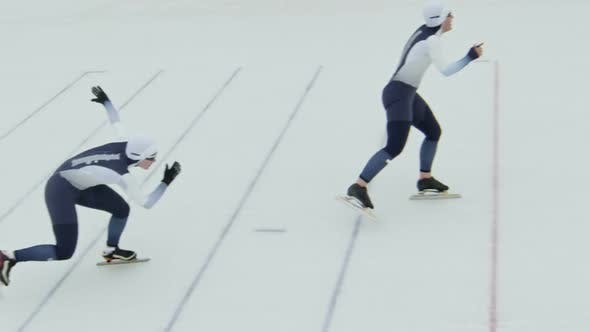 Thumbnail for Speed Skaters Team Practicing