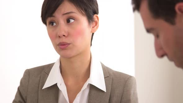 Thumbnail for Chinese businesswoman sharing her opinions