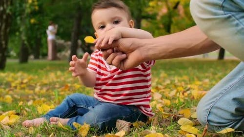 Baby Discovering Nature