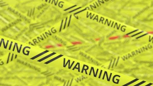 Rubans d'avertissement jaunes et rouges