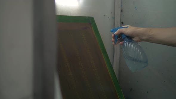 Thumbnail for Textile Factory Equipment - Stencils with Patterns for Printing on Cloths and Paints, Man Prepare