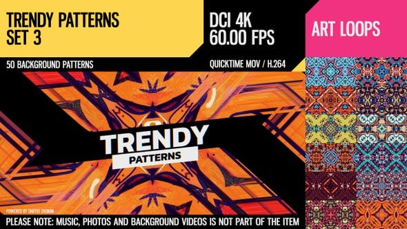 Thumbnail for Trendy Patterns (4K Set 3)