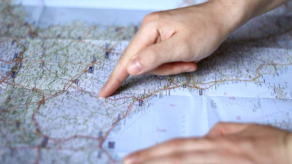 Thumbnail for Looking at a Route on a Map