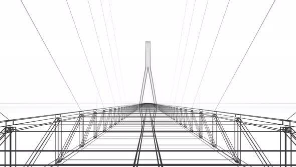 Thumbnail for Go forward on the sketch suspension bridge.
