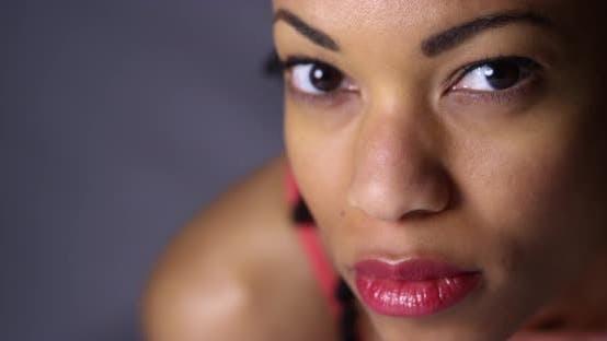 Thumbnail for Sporty black woman looking at camera