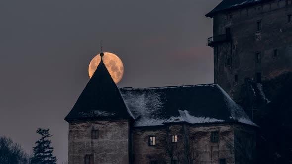 Thumbnail for Full Moon over Castle Tower