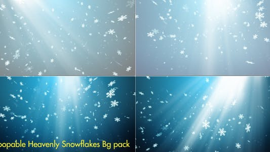 Thumbnail for Heavenly Snowflakes - 5 Background pack