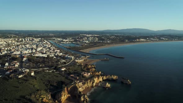 Thumbnail for Aerial View Of Lagos City In Portugal