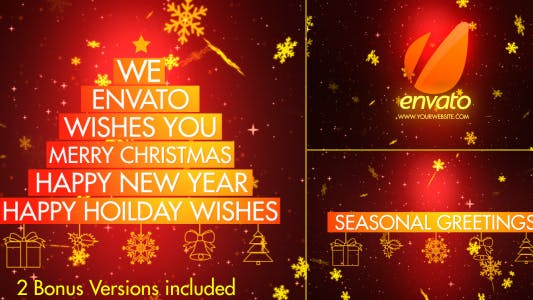 Thumbnail for Christmas Wishes-Typography
