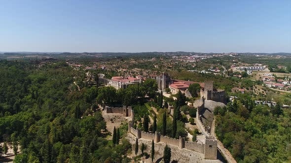 Thumbnail for Aerial View of Templars Castle and Convent of Christ in Tomar, Portugal